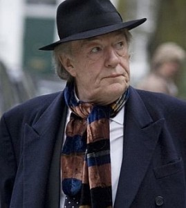 Michael Gambon at Harold' funeral