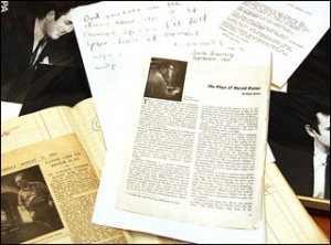 Pinter's archive